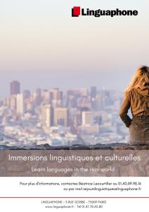 Linguaphone - Catalogue des séjours linguistiques 2018